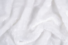The surface of the white faux fur Stock Photo
