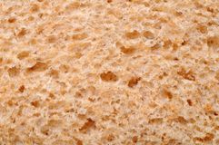 Surface of whole wheat bread Stock Image