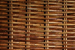 The surface of the woven twigs. Royalty Free Stock Photography