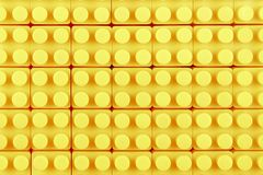 Yellow toy blocks Stock Photography
