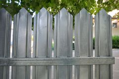 Surface Of Zinc Fence. Sheets stock image