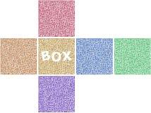 Surfaces d'un cube Photos stock