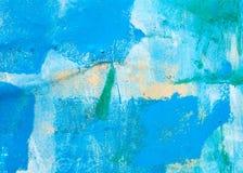 Surfaces métalliques peintes avec la peinture multicolore Images libres de droits