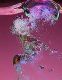 Surfacing air bubbles macro Royalty Free Stock Images