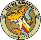 Surfaholic tiger shark Royalty Free Stock Image