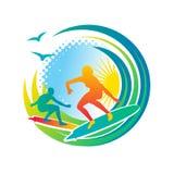 Surfar ilustração royalty free