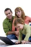 Surfar da família Foto de Stock Royalty Free