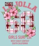 Surfar da menina de La Jolla Imagem de Stock Royalty Free
