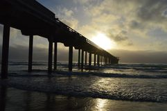 Surfar da praia de La Jolla imagem de stock