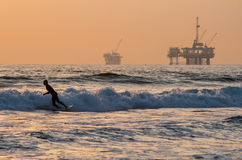 Surfar de Huntington Beach Fotografia de Stock