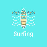 Surfar do molde do logotipo Foto de Stock Royalty Free