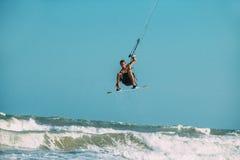 Surfar do papagaio Foto de Stock