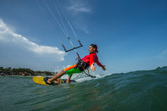 Surfar do papagaio Foto de Stock Royalty Free