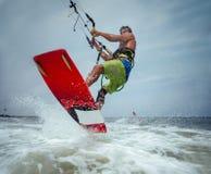 Surfare för drake Boarding Arkivbilder
