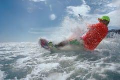 Surfare för drake Boarding Arkivfoto
