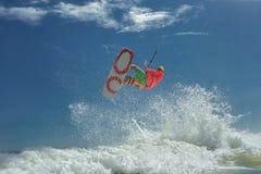 Surfare för drake Boarding Fotografering för Bildbyråer