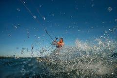 Surfare för drake Boarding Royaltyfria Bilder