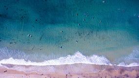 Surfare från över Arkivfoton