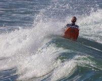 Surfare i handling Fotografering för Bildbyråer