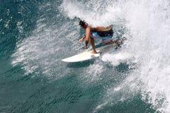 Surfare i krullningen Royaltyfri Bild