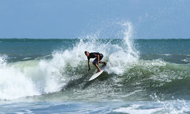 Surfare på Bali Arkivfoto