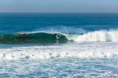 Surfare som surfar vågen arkivbilder