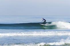 Surfare Stillahavs- strand, San Diego, Kalifornien Arkivbild