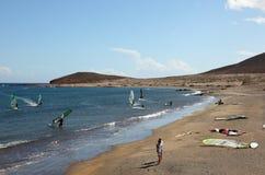 surfarear för strandel-medano Arkivfoton