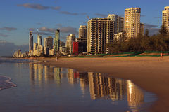 Surfareparadis på Goldet Coast Royaltyfria Foton