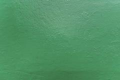 Surfase áspero pintado en color verde Fotos de archivo libres de regalías
