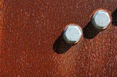 Surfase μετάλλων με το μπουλόνι Στοκ φωτογραφίες με δικαίωμα ελεύθερης χρήσης