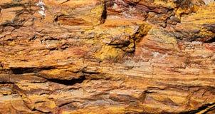 Surfase vermelho do minério de ferro Foto de Stock