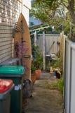 Surfboard в переулке стоковые изображения rf