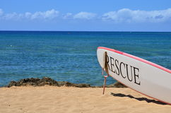 Surfboard на пляже Стоковое Изображение RF