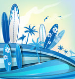 Surfboard  background Stock Photography
