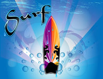 Surfboard background Royalty Free Stock Photography
