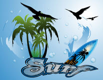 Surfboard background Stock Image