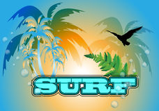 Surfboard background Stock Images