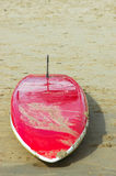 Surfboard on beach Royalty Free Stock Images
