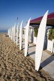 Surfboard on the beach Stock Photos