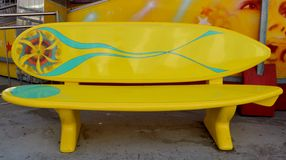 Surfboard bench Royalty Free Stock Photo