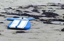 Surfboard  Boogieboard. Seaweed beach two surf board boogie board Stock Images