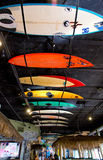 Surfboard ceiling Royalty Free Stock Images