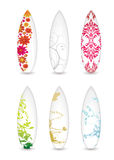 Surfboard collection Stock Photo