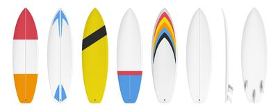Surfboard custom design stock photos