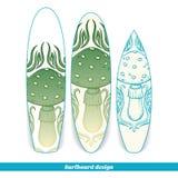 Surfboard Design Abstract Mushroom Royalty Free Stock Photos