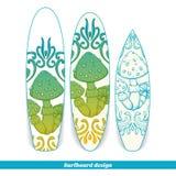 Surfboard Design Abstract Mushroom One Stock Image