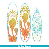 Surfboard Design Abstract Mushroom Three Stock Photo