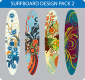 Surfboard design pack Stock Image