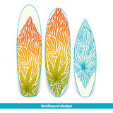 Surfboard Design Three Stock Photos